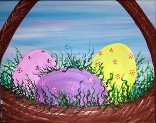 Easter Basket – The Blank Canvas Splattered
