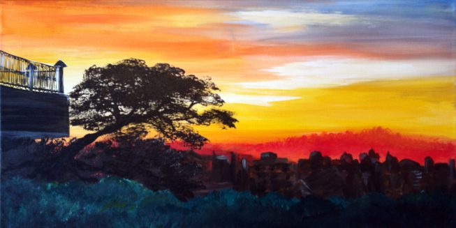 Painting of photo taken in Uganda