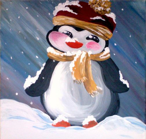 Penguin in a Scarf