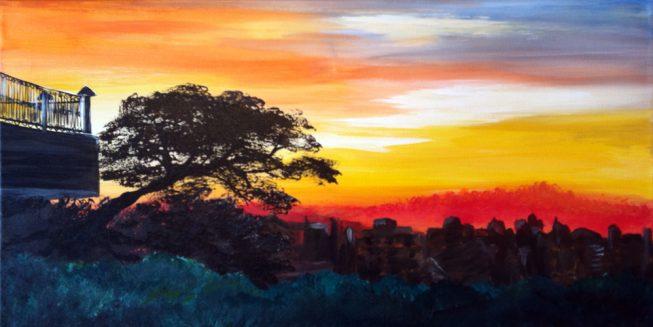 Painting of photo taken in Uganda